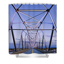 Alaska Native Veterans Honor Bridge Shower Curtain by Yves Marcoux