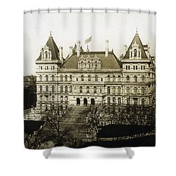 Albany New York - State Capitol Building - C 1900 Shower Curtain by International  Images