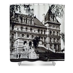 Albany New York - State Capitol Building - C 1903 Shower Curtain by International  Images