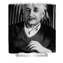 Albert Einstein, German-american Shower Curtain by Science Source
