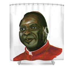 Albert Ndongmo Shower Curtain by Emmanuel Baliyanga