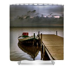 Albufera Before The Rain. Valencia. Spain Shower Curtain