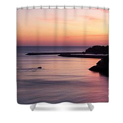 Shower Curtain featuring the photograph Albuferian Sunset by Lynn Bolt