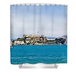 Alcatraz - San Francisco Shower Curtain