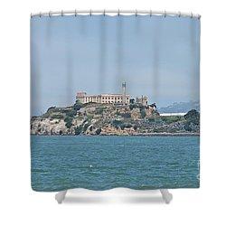 Alcatraz Island Shower Curtain by Cassie Marie Photography