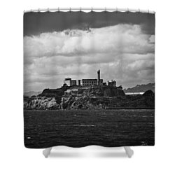 Alcatraz Shower Curtain by Ralf Kaiser