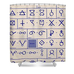 Alchemical Symbols Shower Curtain by Science Source