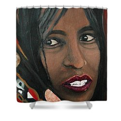 Shower Curtain featuring the painting Alem E. W. by Anna Ruzsan