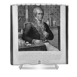 Alessandro Volta, Italian Physicist Shower Curtain by Omikron
