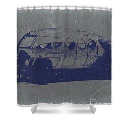 Alfa Romeo Shower Curtain by Naxart Studio