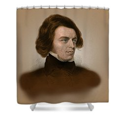 Alfred, Lord Tennyson, English Poet Shower Curtain by Science Source