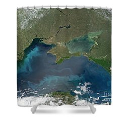 Algal Blooms In The Black Sea Shower Curtain by NASA / Science Source