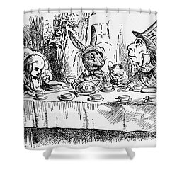 Alice In Wonderland Shower Curtain by Photo Researchers, Inc.