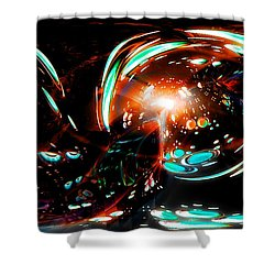 Alien Cave 2 Shower Curtain by Adam Vance