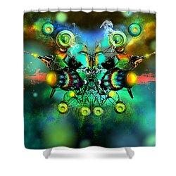 Alien Fighter Shower Curtain by Adam Vance