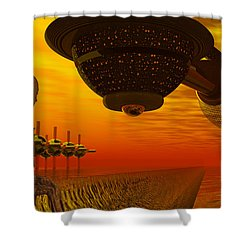 Alien Homecoming Shower Curtain
