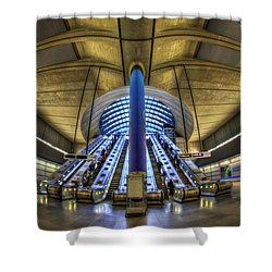 Alien Landing Shower Curtain by Evelina Kremsdorf