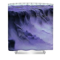 Shower Curtain featuring the photograph Alien Landscape The Aftermath by Blair Stuart