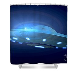 Alien Spacecraft Shower Curtain by Gregory MacNicol and Photo Researchers