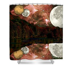 Alien World Shower Curtain