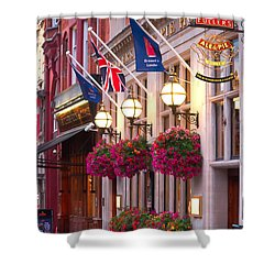 Shower Curtain featuring the photograph All Dressed Up For The Olympics.  by Shirley Mitchell