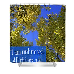 All Things Are Possible Shower Curtain by Dana Kern