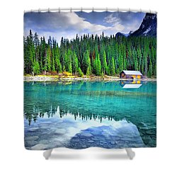 All Things Reflected Shower Curtain by Tara Turner