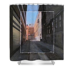 Alley Front Street Layered Shower Curtain by Anita Burgermeister