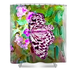 Almost Abstract Butterfly Shower Curtain