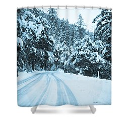 Almost There Shower Curtain by Heidi Smith