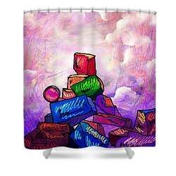 Almost There Shower Curtain by Rachel Christine Nowicki