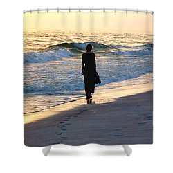 Alone At The Edge Shower Curtain