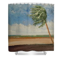 Alone In Paradise  Shower Curtain