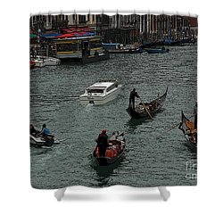 Along The Canal Shower Curtain by Vivian Christopher