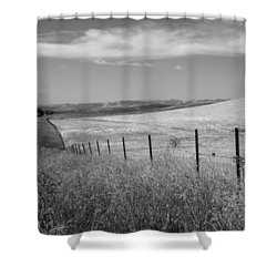 Shower Curtain featuring the photograph Along The Line by Kathleen Grace