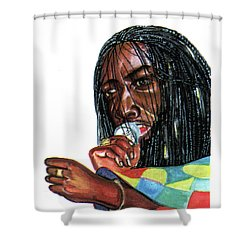 Alpha Blondy Shower Curtain