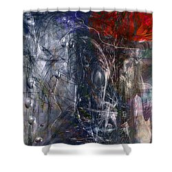 Altered Second Movements Shower Curtain by Linda Sannuti