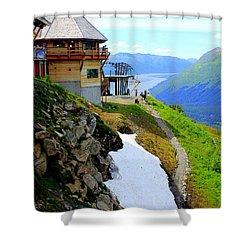 Shower Curtain featuring the photograph Alyeska Ski Resort Alaska by Kathy  White
