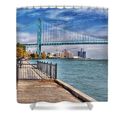 Ambassador Bridge Detroit Mi Shower Curtain