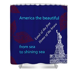 America The Beautiful Shower Curtain by P S