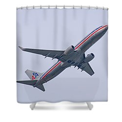 American Airlines Shower Curtain by John Black