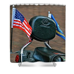 American Biker Shower Curtain