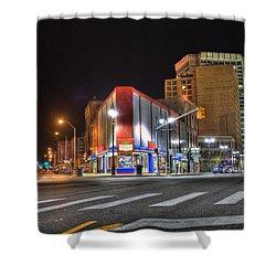 American Coney Island Shower Curtain by Nicholas  Grunas