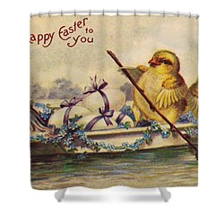 American Easter Card Shower Curtain by Granger