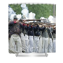American Firing Line Shower Curtain