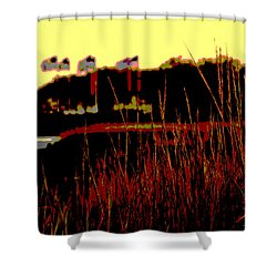 Shower Curtain featuring the photograph American Flags2 by Zawhaus Photography