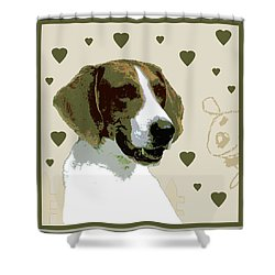 American Fox Hound Shower Curtain by One Rude Dawg Orcutt