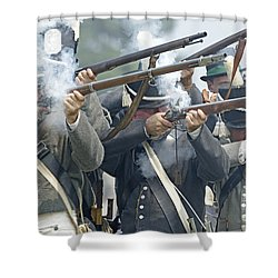 American Infantry Firing Shower Curtain