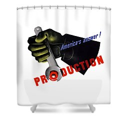 America's Answer -- Production  Shower Curtain by War Is Hell Store