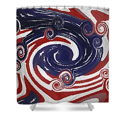 Americas Palette Shower Curtain by DigiArt Diaries by Vicky B Fuller